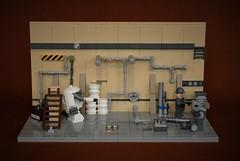 Ma.Ktober - S.A.F.S repair bay (adde51) Tags: lego moc maktober safs robot repair bay sbc swebrick military pipes barrel 2017 maschinen krieger