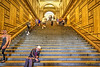 a day at the museum (albyn.davis) Tags: museum met nyc newyorkcity building architecture stairs steps people hdr light yellow gold golden walls urban city travel color vivid bright vibrant perspective