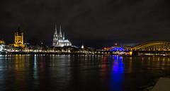 Colonia - Köln (gasendi) Tags: köln colonia alemania germany gasendi olympus em10markii puente rhein rin nocturnas catedral hohenzollern