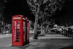 Red London Phone Booth (Sajivrochergurung) Tags: london phone night