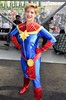 DSC_0142 (Randsom) Tags: newyorkcomiccon october7 2017 nycc nyc newyorkcity costume jacobjavits comic con convention cosplay marvelcomics marvel superhero avengers captainmarvel caroldanvers superheroine heroine blonde spandex red blue smile lips cosmic ultimates javits october6