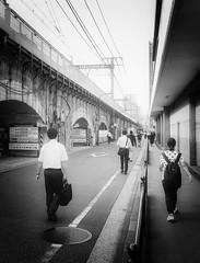 All in a day's work (josephteh) Tags: metro morning walking japan tokyo trainline people blackandwhite streetphotography mono