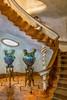 Casa Batlló - Entry Staircase (Marcus Frank) Tags: gaudi architecture whimsical casa batllo staircase entry art nouveau creatures ceramic vase porcelin tilework mosaic tiles batlló spain barcelona