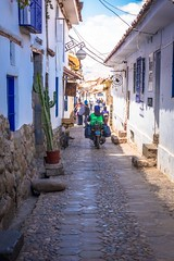 The narrow streets of Cusco.