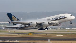 9V-SKT Airbus A380 Singapore Airlines Zurich airport LSZH 15.10-17