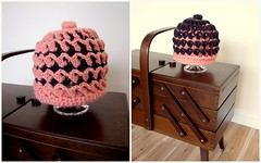 Little hat - Crochet 3D (Patchwork Daily Desire) Tags: crafts crochet beanie hat yarn pink patchworkdailydesire day cozy chocolate