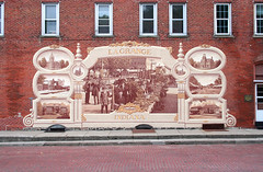 Mural by Maurice Marks in the town square of LaGrange, Indiana (US Department of State) Tags: mural maurice marks lagrange indiana town square