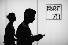 magnum 70 at 70 (Daz Smith) Tags: dazsmith fujixt20 fuji xt20 andwhite city streetphotography people candid portrait citylife thecity urban streets uk monochrome blancoynegro blackandwhite mono magnum exhibition london kingscross silhouette