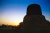 Sarnath, India 1989 (Ben Howe NZ) Tags: 1989 35mmfilm adventure benares fe2 ganges ilovefilm india kodakgold nikon travel varanasi sarnath buddah temple 50mm