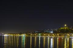 Night at the Coast (canerelci) Tags: night izmir long longexposure dark light lights sea water