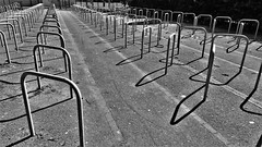 Cycle Parking. (ManOfYorkshire) Tags: hoops shadows rings secure securing park parking durrington southcoast sussex england empty weekend iron shade light