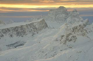 Italy, Dolomiti sunrise