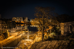 In the locks at night. (johanpettersson63) Tags: trollhättan västragötalandslän sverige se sluss canal locks kanal