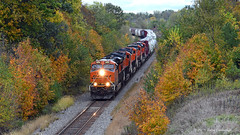 A Gaggle of GE's (GRNDMND) Tags: trains railroads bnsf locomotive ge ci polo illinois