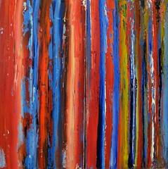 Melting stripes (Peter Wachtmeister) Tags: artinformel modernart artbrut acrylicpaint abstract abstrakt popart surrealismus surrealism hanspeterwachtmeister