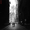 Sydney. (Bill Thoo) Tags: sydney nsw newsouthwales australia angelplace street city urban travel monochrome blackandwhite bnw candid noir film mediumformat mediumformatfilm mamiya mamiya6 50mm analog analogphotography filmphotography