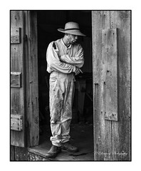 Farm Hand (windshadow2) Tags: nikon portrait farm rural americana worker blackandwhite d500 natural lighting barn coggeshall bristol ri rhode island