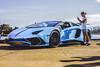 2017 Lamborghini Aventador SuperVeloce LP750-4 (Leighton Wallis) Tags: sony alpha a7r mirrorless ilce7r 55mm f18 emount sydney pyrmont jonesbaywharf nsw newsouthwales australia carsandcoffee lambo lamborghini superveloce sv aventador skyblue girl