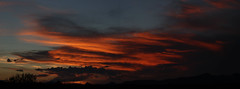 Sunset 9 9 17 #03 Panorama (Az Skies Photography) Tags: sun set sunset sky skyline skyscape clouds cloud rio rico arizona az riorico rioricoaz arizonasky arizonaskyline arizonaskyscape arizonasunset red orange salmon gold yellow golden black september 9 2017 september92017 9917 992017 canon eos 80d canon80d canoneos80d eos80d panorama