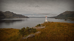 Amphitrite.. (Harleynik Rides Again.) Tags: amphitrite lochhourn weddingdress vista view glenelg highlands weather sea loch mountains womaninlandscape womaninnature backshot harleynikridesagain explore inexplore