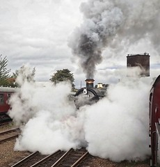 Great Central Railway Loughborough 7th October 2017 (loose_grip_99) Tags: greatcentral railway railroad rail train locomotive leicestershire eastmidlands england uk steam engine loughborough greatwestern gwr modified hall 460 6990 witherslackhall gassteam uksteam preservation transportation trains railways october gala 2017