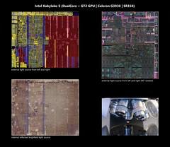 Intel@14nm+@Skylake@Kabylake-S(DualCore)@Celeron_G3930@SR35K___DSCxAll_polysilicon_microscope_stitched@5x (FritzchensFritz) Tags: macro makro intel celeron kabylake s kabylakes skylake 14nm g3930 sr35k gt2 gpu igp hd graphics 610 chip dualcore core die shot ceramic keramik gpupackage package gpudie dieshots dieshot waferdie wafer wafershot vintage open cracked size microscope mikroskop stitched