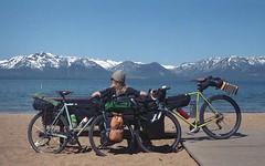 detour466 (dannondale) Tags: bicycletouring sierras lake tahoe nevada 35mmfilm expiredfilm nikonf2 shootfilm