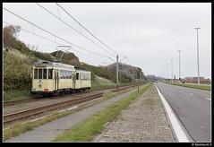 TTO 354 + 70 - Blankenbergse Steenweg (Spoorpunt.nl) Tags: 1 oktober 2017 tto noordzee kusttram gentse stadstram motorwagen 354 bijwagen 70 blankenbergen blankenbergse steenweg