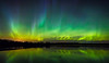 Sky Alive (Terry L Richmond) Tags: nature sky bright noperson space dark astronomy rainbow outdoors shining fantasy atmosphere art insubstantial abstract northernlights auroraborealis nightsky reflection calm longexposure canon6d canon1740 alberta canada pinelake colorful colors