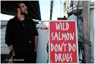 Wild Salmon Don't Do Drugs - Steveston XP7285e