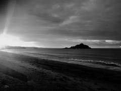293. (Surfchild.) Tags: 365the2017edition 3652017 day293365 20oct17 monochallenge marazion stmichaelsmount cornwall penzance