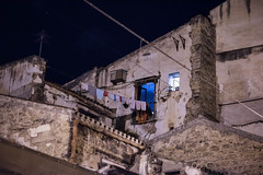 DSC_3453 (Pasquesius) Tags: sicilia sicily palermo sera evening notte night centrostorico corsovittorioemanuele pannistesi finestra window eternit hunglaundry