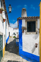 Obidos (Luca Quadrio) Tags: rooftops square color historic street home destination portugal summer road obidos life architecture village white spectacular yellow building medieval window old european brick visit outdoor ancient city town tourism clear exterior blue urban sky scene travel portuguese house residential heritage chimney door europe culture famous