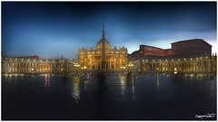 luci a Roma (Massimo Vitellino) Tags: sanpietro rome outdoors church religion hdr colors structure architecture abstract contrast conceptual lights sky travel tranquility