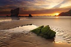 Follow the lines (Anto Camacho) Tags: sunrise landscape beach seashore rocks sun sunstar nature clouds waterscape dunes sand longexposure