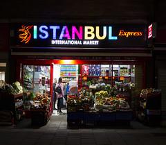 Istanbul Express, Bermondsey (London Less Travelled) Tags: england britain greatbritain uk unitedkingdom london city urban night dark darkness shop istanbul bermondsey grocery store