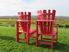 Have a seat (Kaarina Dillabough) Tags: vineyard chair muskoka red winery