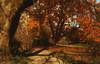 Autumn Gold (charhedman - off for a few days) Tags: deerlakepark burnaby autumn gold longshadows trees walking slidersunday leaves fluttering
