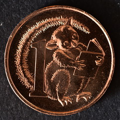 Possum Magic[Australian 1c coin uncirculated][Limited Edition] (Dreaming of the Sea) Tags: possummagic money coins 1c gold australia currency round 7dwf nikon d5500 tamronsp90mmf2811macro bronze uncirculated 2017 macro