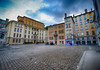 Colorful Square in Lyon, France (` Toshio ') Tags: toshio france lyon europe square townsquare architecture oldtown cobblestone buildings eruope european europeanunion clouds