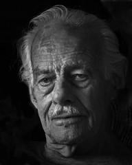 (Hans J Fischer) Tags: monochrome portraiture senior gentleman aged blackwhite grandfather silverhairdevil class wiseman classic knowledge wise old mature rembrandtlighting studiolighting softlight