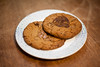 D250 / Y6. (evilibby) Tags: cookie cookies plate woodentable kitchen homemade homemadecookies project365