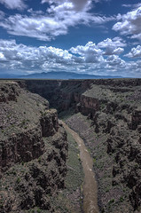 Rio Grande Gorge (keycmndr) Tags: clouds desert hdr landscape mountains newmexico taos