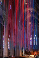 Graced with Light (Oleg S .) Tags: california usa decorations sanfrancisco church architecture installation