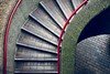 Confusion (City of London, United Kingdom 2017) (Alex Stoen) Tags: alexstoenphotography architecture concrete curves leicamptyp240 london repetition shadows staircase steps summiluxm35mm unitedkingdom creativecomposition lines red street