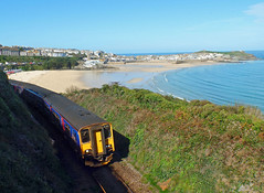 150265 & 150104 Porthminster Point (1) (Marky7890) Tags: gwr 50104 150265 class150 sprinter 2a20 stives porthminsterpoint stivesbayline railway cornwall train