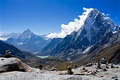 At the top of the Chola Pass (Kramskorner) Tags: mount everest base camp 2017 katmandu mountains himalayas pumori ama dablam snow capped peaks summit trek trekking hiking high altitude sony a7ii 24240mm landscape sunrise bw chola pass glacier