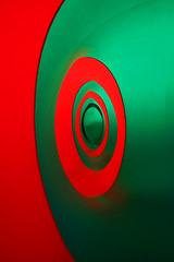 Red and Green (peter_a_hopwood) Tags: red green colourscape clapham autumn 2017 sony a99 uk