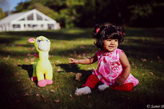 deer and dear (Samir D) Tags: samird 604 604now 2017 jianna deerlake burnaby vancouver vancity vancitybuzz bc britishcolumbia 35mm14 eos northamerica lightshadow light autumn afternoon outdoor child baby offspring infant