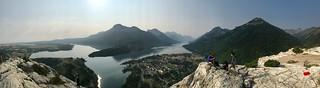 Waterton Lakes National Park panorama view